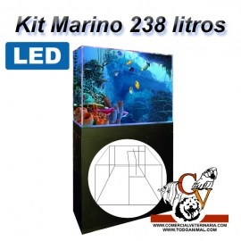 Kit Marino Completo 238 Litros Led